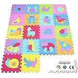 qqpp Alfombra Puzzle para Niños Bebe Infantil - Suelo de Goma EVA Suave. 18 Piezas (30*30*0.9cm),...