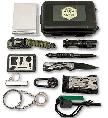 Auen-Notfall-Survival-Kit-12-in-1-mit-Multi-Tool-Zangen-set-und-Paracord-Armbnd-Fr-Camping-Bushcraft-Wandern-Jagd-und-Ihr-Outdoor-Abenteue-von-Felbridge-Green