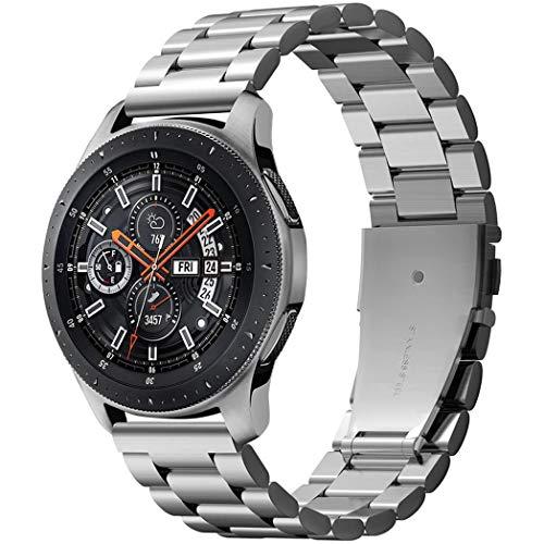 Spigen Galaxy Watch 46mm Cinturino, Modern Fit Progettato per Galaxy Watch 46mm (2018) / Gear S3 Frontier/Classic Cinturino in Metallo - Argento
