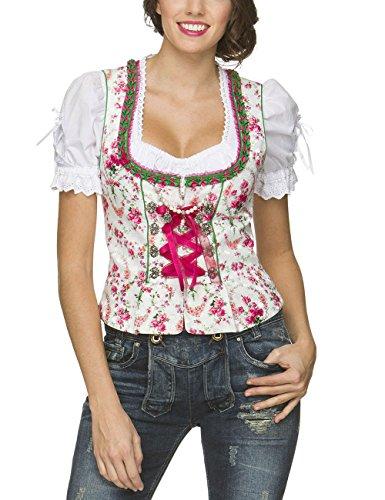 Stockerpoint Damen Trachtenbluse Mieder Ramona Weiß (Weiss), 34