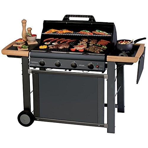 Campingaz Barbecue a Gas Adelaide 4 Classic Deluxe Extra con 4 Bruciatori in Ghisa, Potenza di 21...
