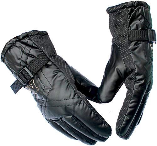 DIGITAL HOMES Snow Proof Soft Warm Winter Gloves for Men (Black, Free Size)