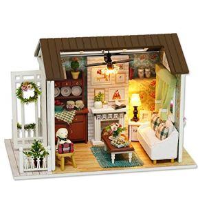 Madera casa de muñecas Kit-Madera Modelo Juego de construcción Mini-Casa Crafts DIY habitación miniatura Set-sentido de la orientación de la construcción, mejores regalos de cumpleaños for mujeres y n