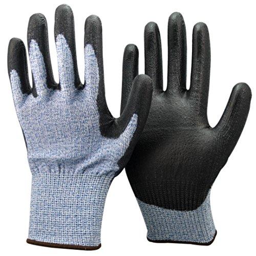 Unisex nero e blu Anti Tagliare Livello 5 (più alto) Guanti. CE certificato, ideale per i...