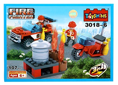 Toyshine ABS Plastic Firefighter and Rescue Blocks Toy Set (3018-6)