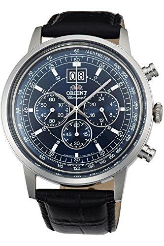 Orient Orologio Cronografo Quarzo Uomo con Cinturino in Pelle FTV02003D0