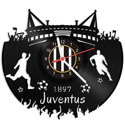 GRAVURZEILE Orologio da parete Juventus - 100% club - Upcycling Design Orologio da parete in vinile made in Germany