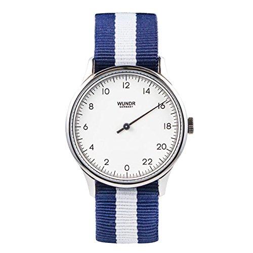WUNDRWATCH - die 24h Einzeigeruhr für Herren mit Wechselarmbändern (Schweizer Uhrwerk | Italienisches Leder | Natostraps)
