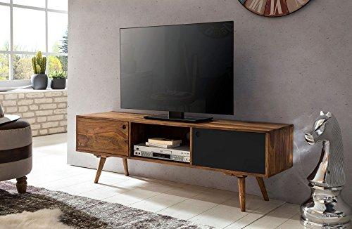 KadimaDesign TV lowboard REPA 140 cm in Legno massello di Sheesham Cottage a 2 Ante. Scaffale HiFi...