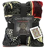 Game of Thrones Regali Merchandise Got Coperta Super Morbida Coperta Letto Luxury Stark Lannister Targaryen Greyjoy Baratheon Tyrell Great House Simboli Westeros