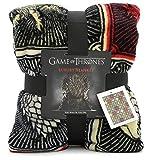Game Of Thrones Juego de Tronos Regalos Merchandise Got Manta Super Suave Lujo Cama Manta Stark Lannister Targaryen Greyjoy Baratheon Tyrell Gran casa símbolos Westeros