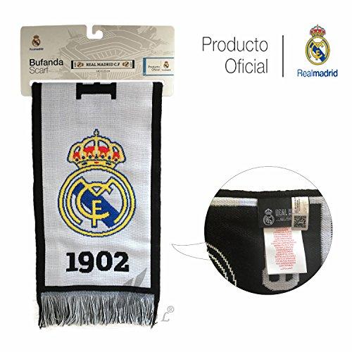 Real Madrid C.F. Bufanda DE Producto Oficial Real Madrid (RMFC 1902)