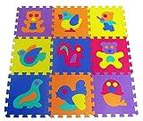 9 pz carina EVA Foam Play Mats Pavimento Puzzle con animali | Tappeto di gioco per i più piccoli i bambini ragazzi | Pezzi di collegamento | Colore lu by DURSHANI