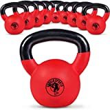 Gorilla Sports Kettlebell Red Rubber 4 kg - Pesa Rusas, Talla One Size
