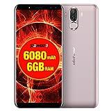 Ulefone Power 3Android 8.1desbloqueado Smartphone 6GB + 64GB Dual cámaras trasera + Dual cámaras frontal 6080mAh batería Big Face Identificación de Huellas Dactilares + 6.0inch mtk6763ocho núcleos Red con 4G de hasta 2,0gHz, OTG, Dual SIM