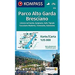Carta escursionistica n. 694. Parco Alto Garda, bresciano 1:25.000: Wandelkaart 1:25 000
