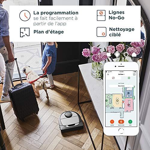 51Z9mXJEhwL [Bon Plan Neato] Neato Robotics D701 Connected - Compatible avec Alexa - Robot aspirateur avec station de charge, Wi-Fi & App