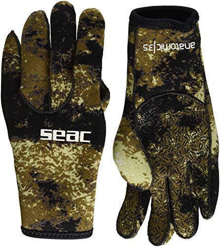 Seac Anatomic Camo Gloves, Guanti da Sub in Neoprene da 3.5 Mm per Pesca Subacquea in Apnea Unisex -...