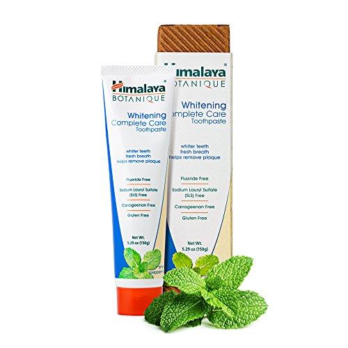 Himalaya Botanique Whitening Toothpaste Simply Peppermint 150g - Natürliche Zahnpasta ohne Fluorid,...