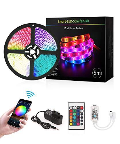 LED Licht Streifen 5m, Sync mit Musik, 16 Mio Farben...