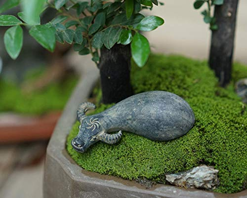 DesktopICP Decoración Figuritas Estatuas El Agua de arado de búfalos de Animales pequeños Presenta Accesorios Decorativos