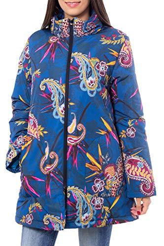 Desigual Piumino Corto Donna Padded Jacket Oversize et 19woek02 m Petrolio