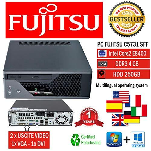 MINI PC SLIM FUJISTU C5731 E8400 3.0GHZ/RAM 4GB/HD 250GB/DVD+RW/WIN 10 PRO (Ricondizionato...