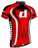 Didoo Pro Men's Short Sleeve Cycling Jerseys Bicycle T-Shirts Biking Top Racing Red S