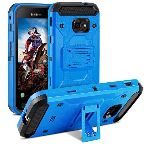 BEZ Hülle für Xcover 4 Hülle, Handy Schutzhülle Outdoor Kompatibel für Samsung Galaxy Xcover 4 [Heavy Duty Serie] Dual Layer Armor Case Stoßfestes Shockproof Robuste, Blau