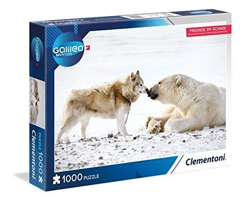 Clementoni 59091Amici nella Neve–Puzzle 1000T Galileo