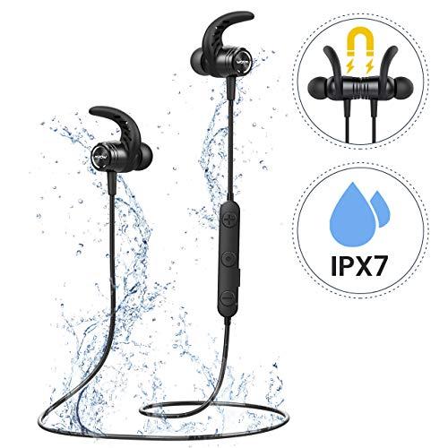 Mpow Auricolari Bluetooth Sport 4.1 Magnetici S10, Cuffie Bluetooth IPX7 Impermeabile, Auricolari...