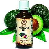 Aceite de Aguacate 100ml - Persea Americana - Sudáfrica - 100% Puro y Natural - Cuidado Intensivo...