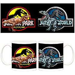 Taza Jurassic Park vs Jurassic World