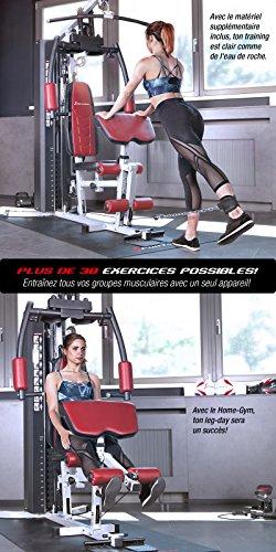 Sportstech VAINQUEUR du Test* La Station de Musculation Premium 30en1 HGX100 de pour des Variantes d'entraînement innombrables. Home-Gym Mul... 25