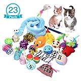 Focuspet Juguete para Gatos, Cat Juguete Interactivo para Gatos para Gatitos Incluye Juguetes para Gatos, Juguetes interactivos, etc. Paquete de Variedad de 23 Piezas