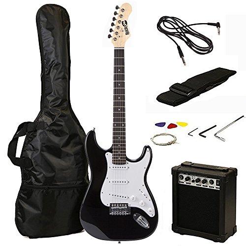 RockJam RJEG02-SK-BK Kit per Chitarra Elettrica