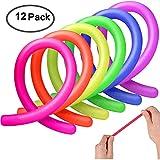 AMEITECH Colorful Juguetes de Estiramiento Sensorial Fidget Ayuda a Reducir la Inquietud Debida al Estrés y la Ansiedad por Add, ADHD, Autismo (12 Pack)