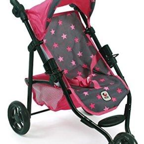 Bayer Chic 200061282Jogging de Buggy Lola, muñeca Carro, Estrellas Rosa