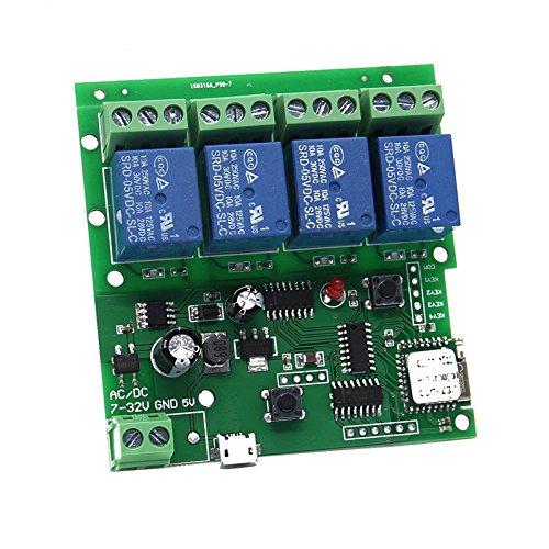 4canali wifi momentaneo inching relè selbsts icheren interruttore modulo, Diy WiFi porta del garage di controller (5-32V)