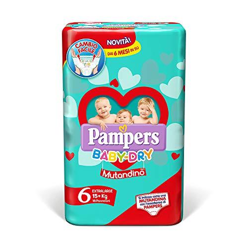 Pampers Baby Dry Mutandino - Extra Large Taglia 6 (+15kg) 16 Pannolini
