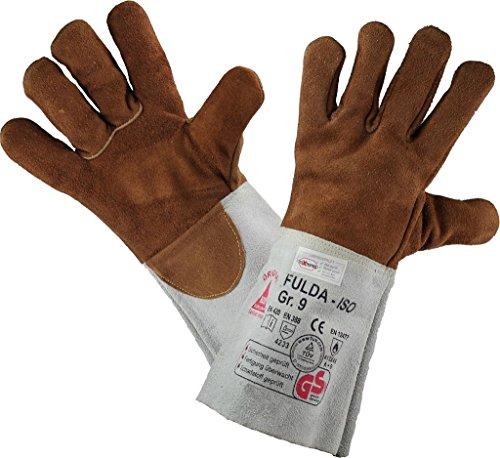 Guanti per Saldatura in pelle FULDA - ISO - Guanto da Lavoro per Lavori di Saldatura - Taglian: 9