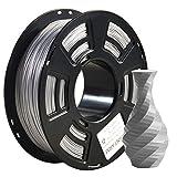 PLA filament 1.75mm Sparky Silver, GIANTARM 3D Imprimante Filament PLA 1kg Spool
