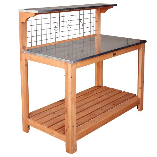 the Habau 695 Garden Table with Zinc-Plated Working Surface. This wooden table with galvanised surfaces is arguably the best quality on the market.