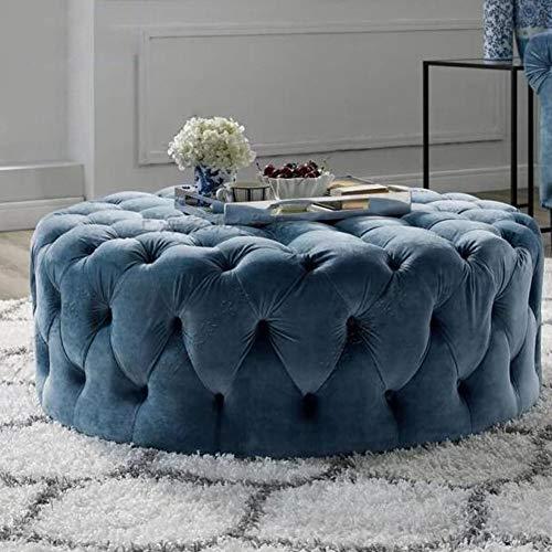 Sgabelli CJC Poggiapiedi Contemporaneo Ottomano, Stile Nordico Divano Scarpe Panchina, Imbottiti Tavolino da caffè Sedie Comode (Color : Blue, Size : 70cm)