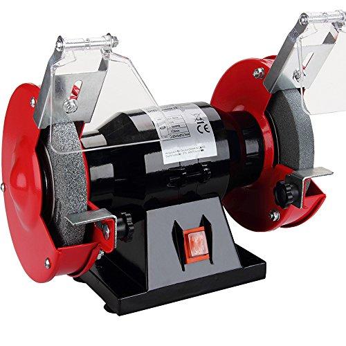 Monzana Doppelschleifer   250 Watt   Funkenschutz   Grob- und Feinschleifscheibe   Schleifgerät Schleifbock Schleifen