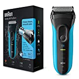 Braun Series 3 3010 - Afeitadora eléctrica recargable Wet & Dry, color azul