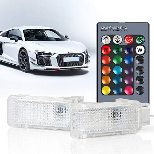 Luci LED RGB Luci Laterali di Cortesia Luce Decorativa Interna per Auto A-u-d-i A3, A4, B5, B6, B7,...
