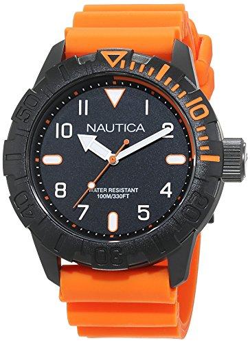 Nautica Orologio Analogico Quarzo Uomo con Cinturino in Silicone NAD10082G