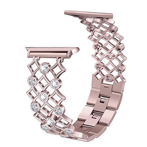 Aottom Compatibile per Cinturino Apple Watch 38mm Cinturini iWatch 40mm Cinturino di Ricambio in Acciaio Inossidabile Strass per Donne Cinturino in Metallo Fibbia Cinturino per iWatch Serie 4/3/2/1