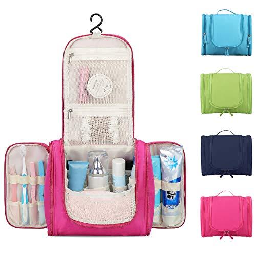 Beauty Case da Viaggio Uomo Donna 16 Scomparti Borsa Da Toilette Grande Con Gancio Da Appendere...